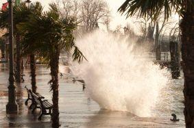 Lago di Garda in tempesta
