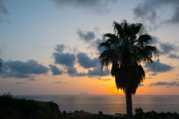 Calabria, Sunset view Stromboli