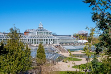 Serra nel giardino botanico