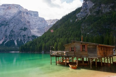 Braies Lake, the famous Hut