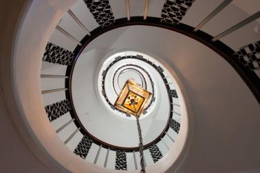 La scala dell'hotel..